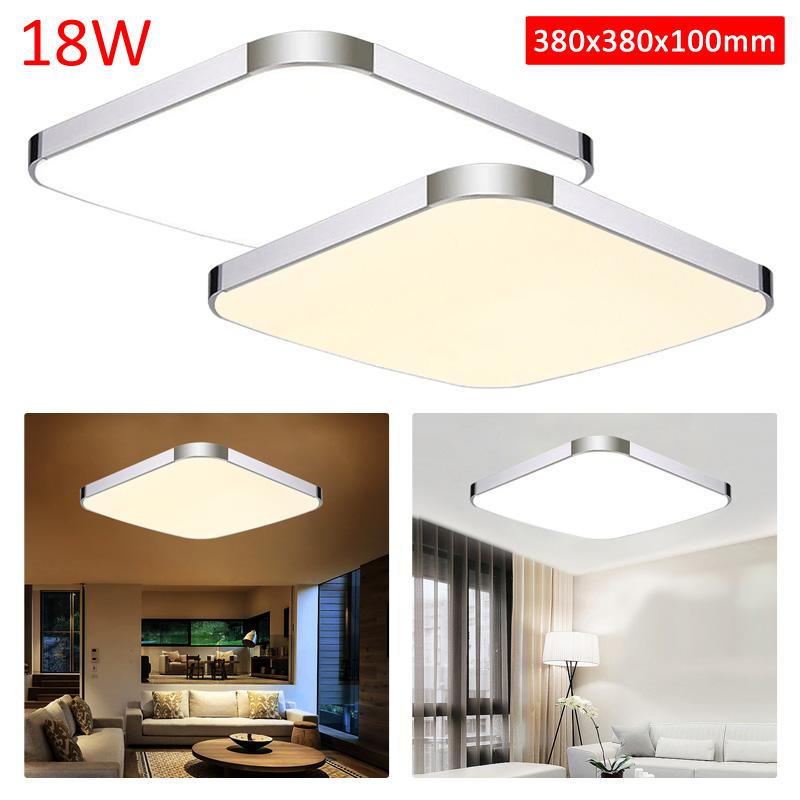 neu led deckenlampe 18w modern deckenleuchte warmwei wandlampe wohnzimmer panel ebay. Black Bedroom Furniture Sets. Home Design Ideas