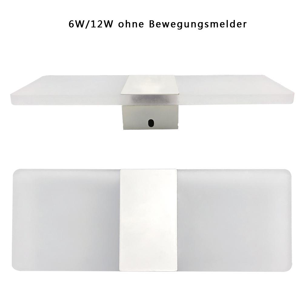 led effektlampe wandlampe flurleuchte k che licht mit bewegungsmelder kaltwei ebay. Black Bedroom Furniture Sets. Home Design Ideas