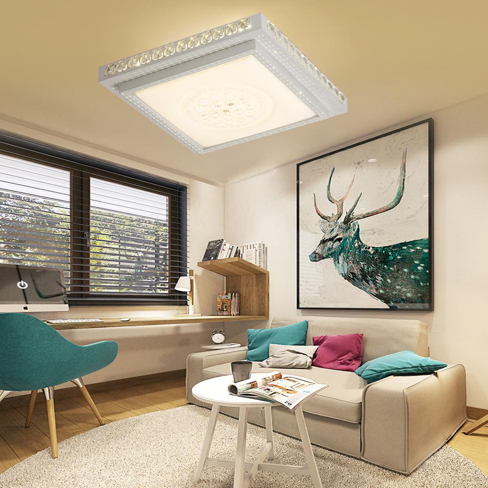 36w led kristall deckenleuchte deckenlampe design flurlampe wohnzimmer dimmbar ebay. Black Bedroom Furniture Sets. Home Design Ideas