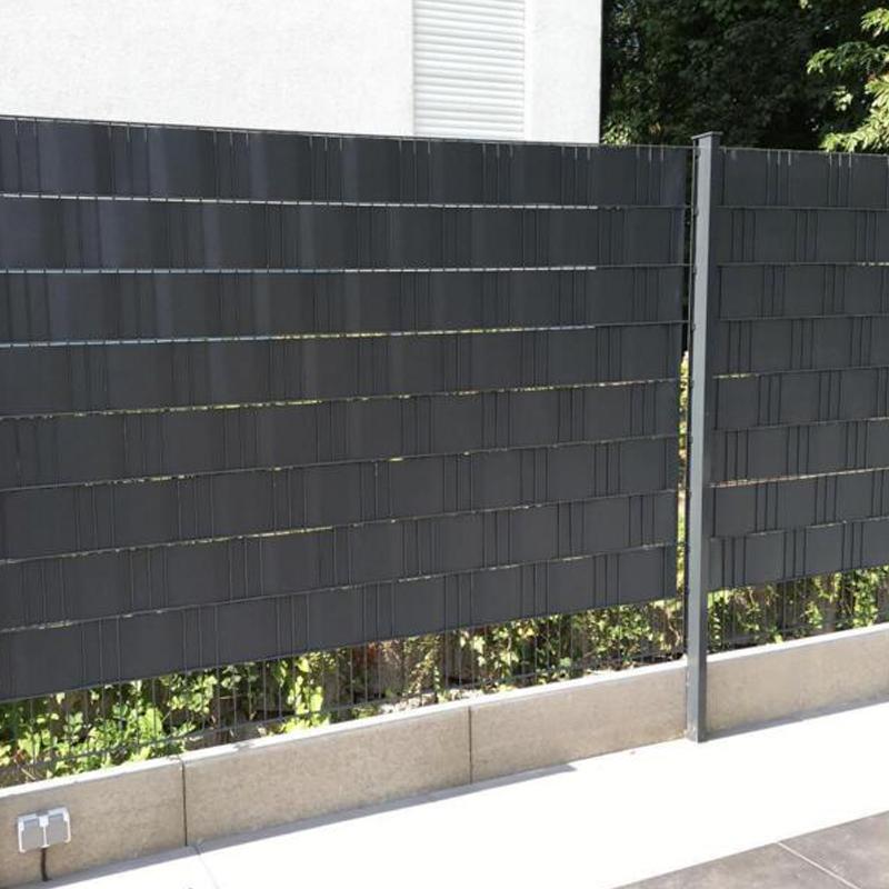 pvc sichtschutz streifen sichtschutzfolie doppelstabmatten zaun 65m anthrazit de 717850238971 ebay. Black Bedroom Furniture Sets. Home Design Ideas
