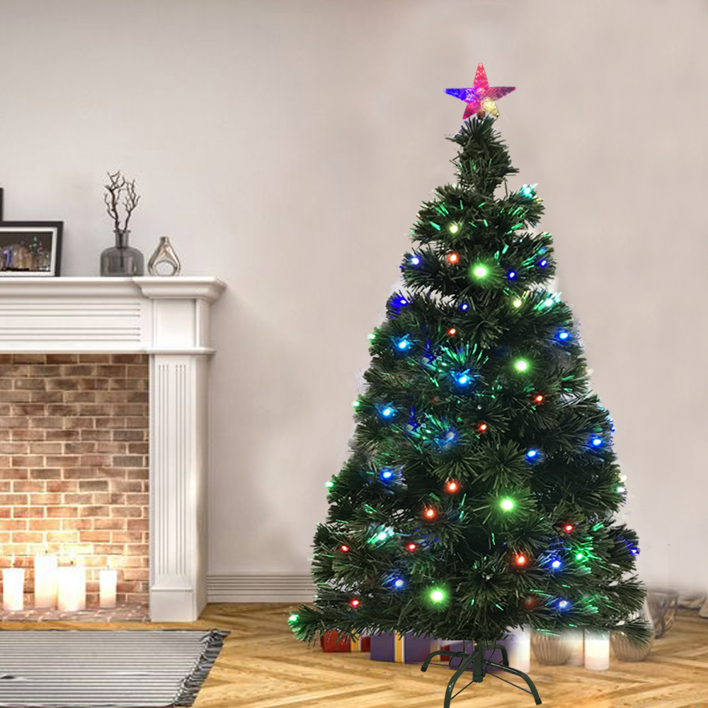 180cm weihnachtsbaum christbaum k nstlicher pvc tannenbaum mit led beleuchtet ebay. Black Bedroom Furniture Sets. Home Design Ideas