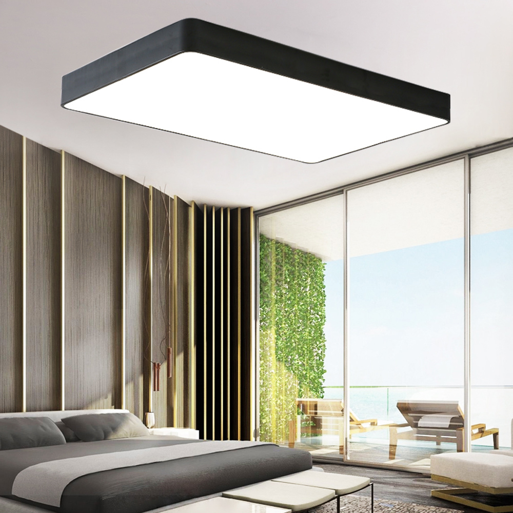 acryl led deckenlampe dimmbar deckenleuchte wohnzimmer lampe mit fernbedienung ebay. Black Bedroom Furniture Sets. Home Design Ideas