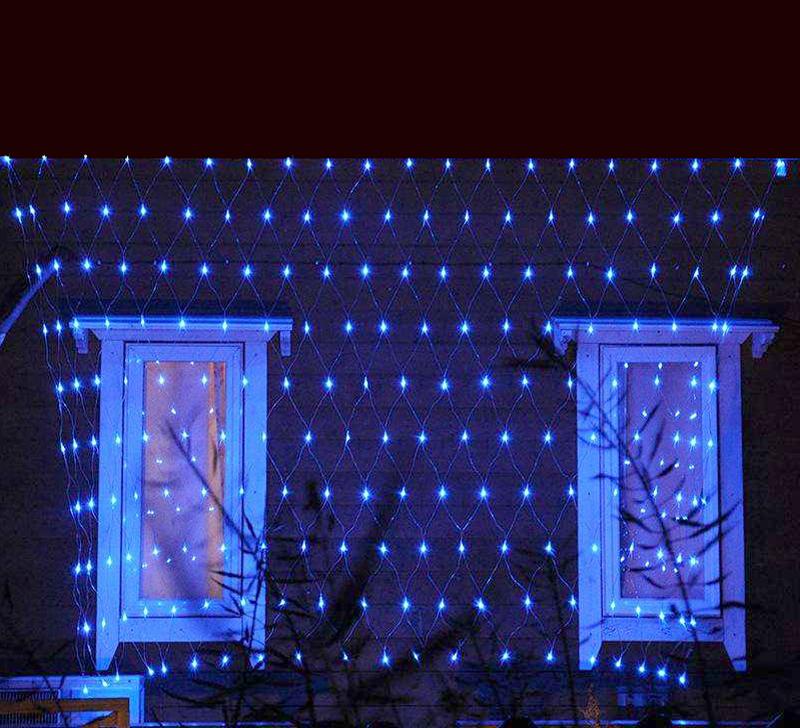 3x2m blau led lichternetz weihnachtslichterkette netzlicht lichterkette au en ebay. Black Bedroom Furniture Sets. Home Design Ideas