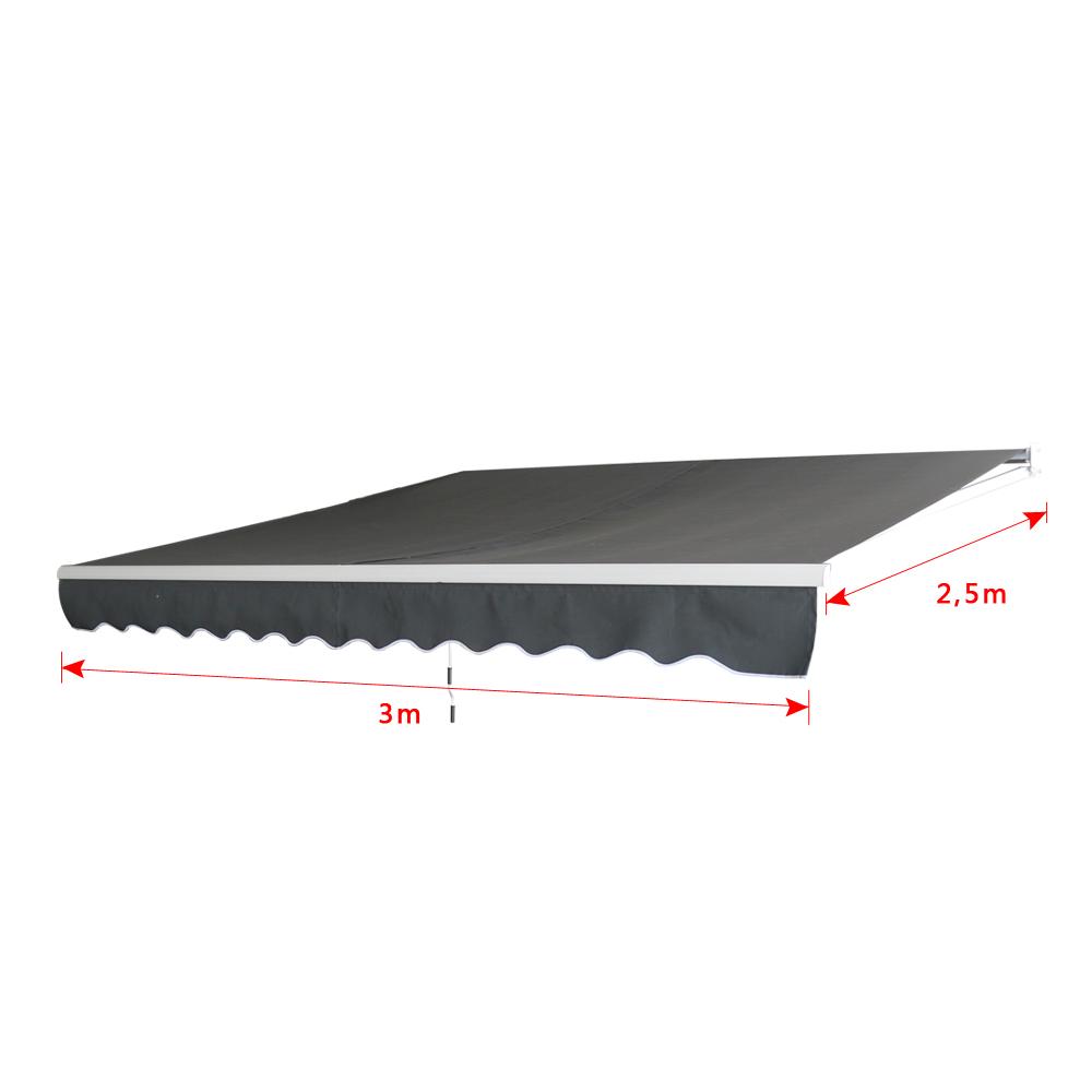 3m X 2 5m Aluminium Markisen Gelenkarmmarkise Sonnenschutz