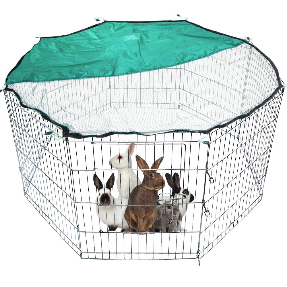 8 Teile 61x61cm Freilaufgehege Freigehege Auslauf Hasen Kaninchen ...