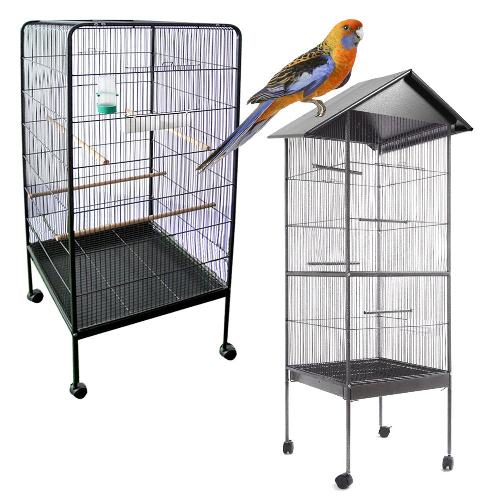vogelk fig voliere xxl gr e vogelvoliere wellensittich papagei aus metall k fig ebay. Black Bedroom Furniture Sets. Home Design Ideas