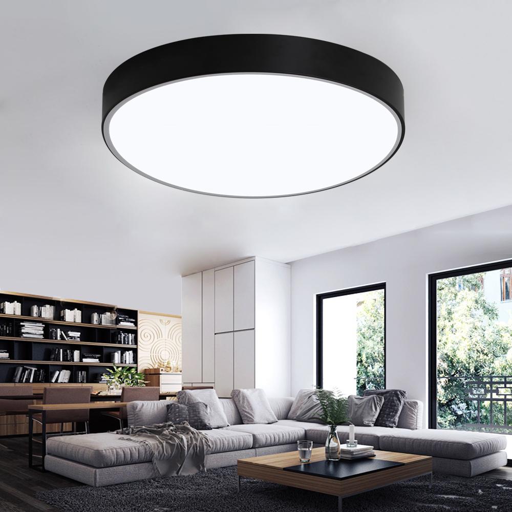 acryl led deckenlampe dimmbar deckenleuchte wohnzimmer lampe mit fernbedienung ebay. Black Bedroom Furniture Sets. Home Design Ideas