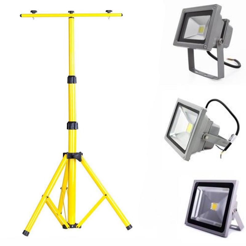 2x 20w 30w 50w silber led floodlight fluter ip65 mit teleskop stativ baustrahler ebay. Black Bedroom Furniture Sets. Home Design Ideas