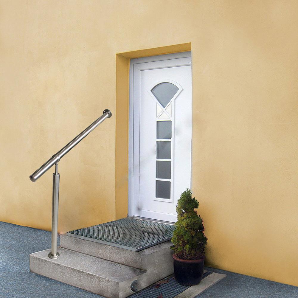 edelstahl wandhalter gel nder l 150cm treppenhandlauf handlauf eingangsgel nder ebay. Black Bedroom Furniture Sets. Home Design Ideas
