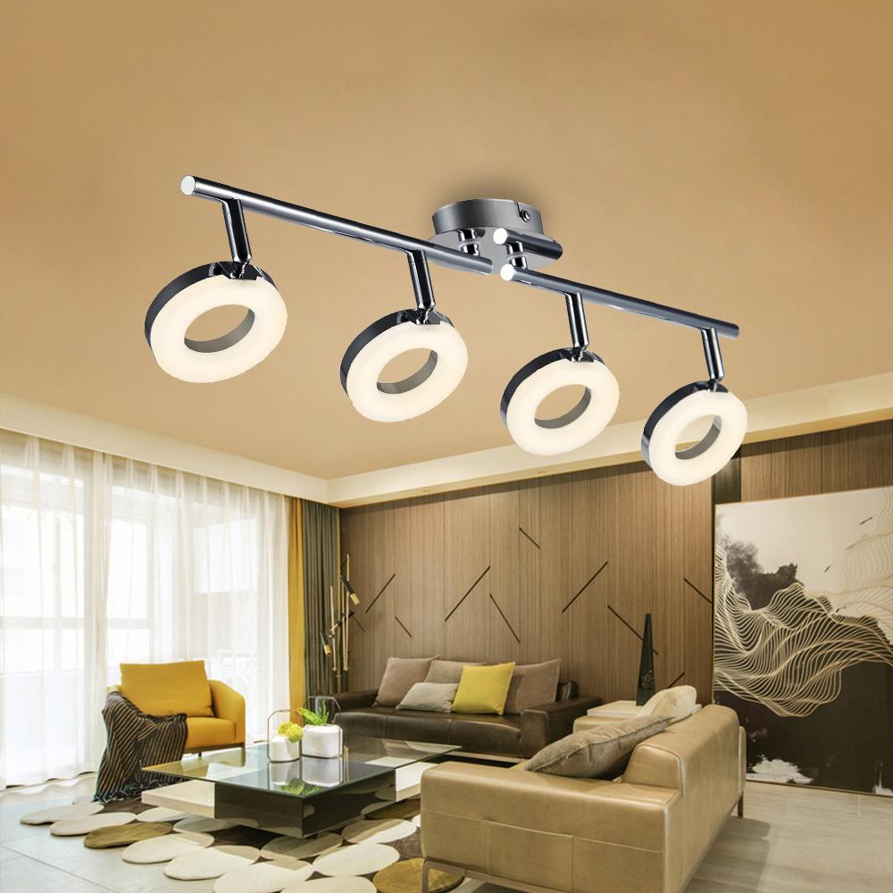 led deckenlampe deckenstrahler deckenspot drehbar deckenleuchte h ngelampe k che ebay. Black Bedroom Furniture Sets. Home Design Ideas