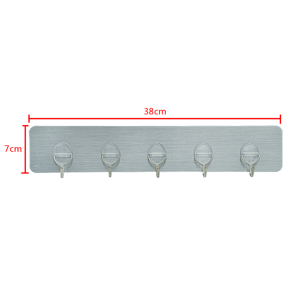 4x selbstklebend 5 haken hakenleiste klebehaken. Black Bedroom Furniture Sets. Home Design Ideas