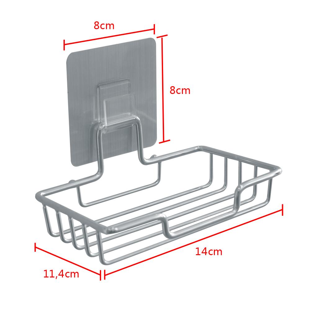 2x seifenablage selbstklebend ohne bohren seifenschale halter wandhalterung ebay. Black Bedroom Furniture Sets. Home Design Ideas