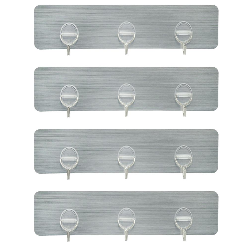 4x 3 haken klebehaken selbstklebend k che hakenleiste handtuchhaken ohne bohren ebay. Black Bedroom Furniture Sets. Home Design Ideas