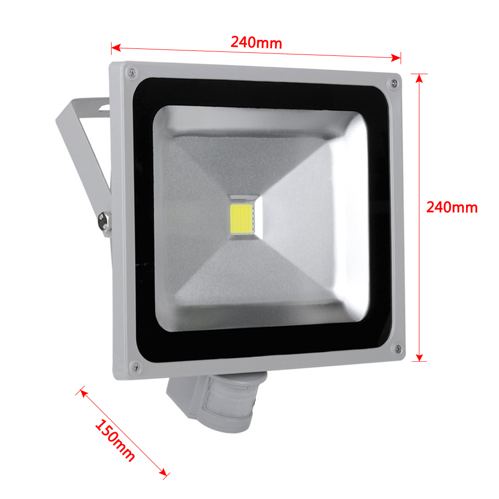led smd fluter au en strahler flutlicht ip65 mit bewegungsmelder sensor 20w 50w ebay. Black Bedroom Furniture Sets. Home Design Ideas