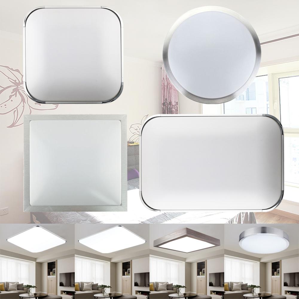 Led l mpara de techo plaf n luces modernas sal n ba o ip44 regulable 12w 96w ebay - Plafon para bano ...