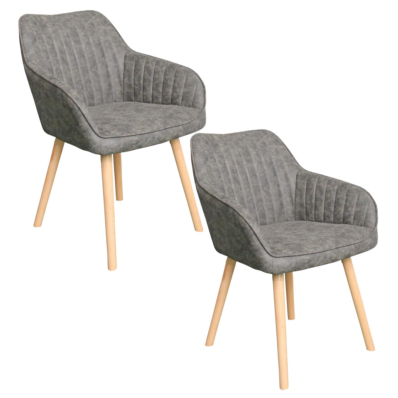 Verschiedene Esszimmerstühle Grau Mit Armlehne Das Beste Von 2er Set Esszimmerstuhl Retro Konferenzstuhl Küchen Büro