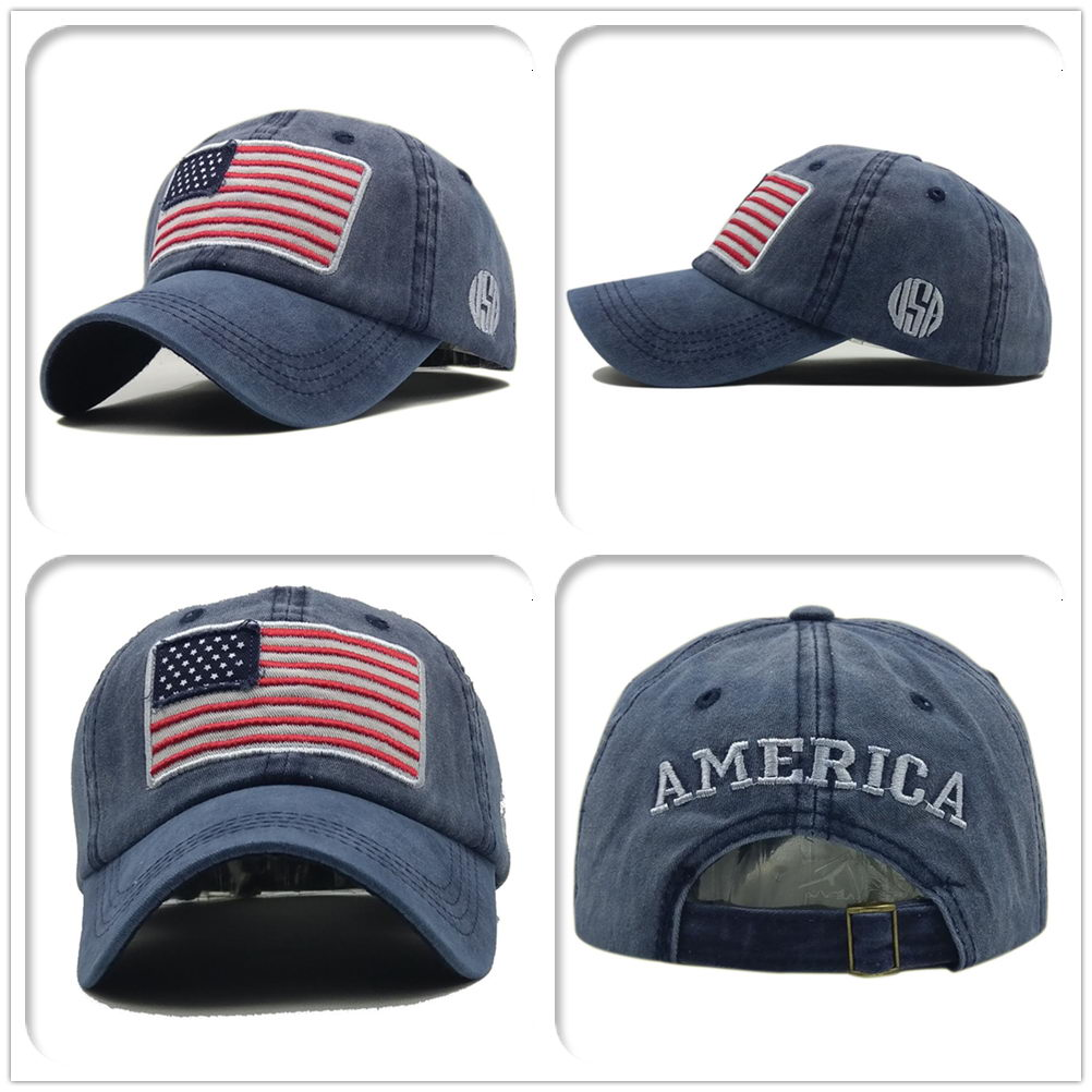 fa106bf7a16 Details about Men Women American flag Baseball Cap Adjustable Sport  Snapback Hip-hop Hat