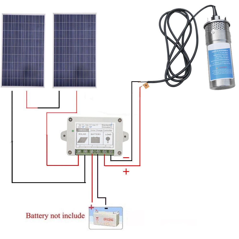 24v Solar Panel Deep Water Well Pump S  Steel Submersible
