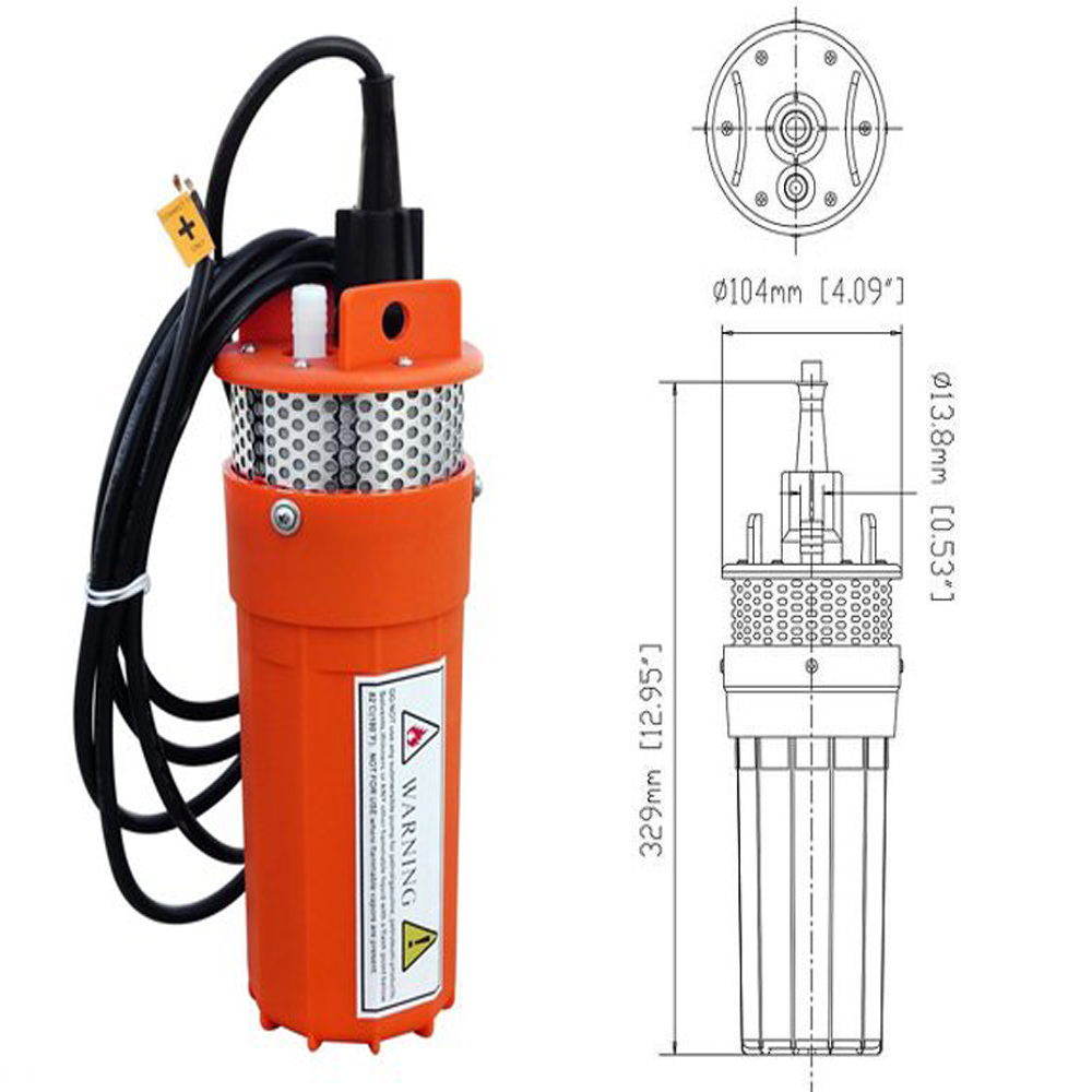 Dc 12v Solar Submersible Solar Deep Well Water Pump For