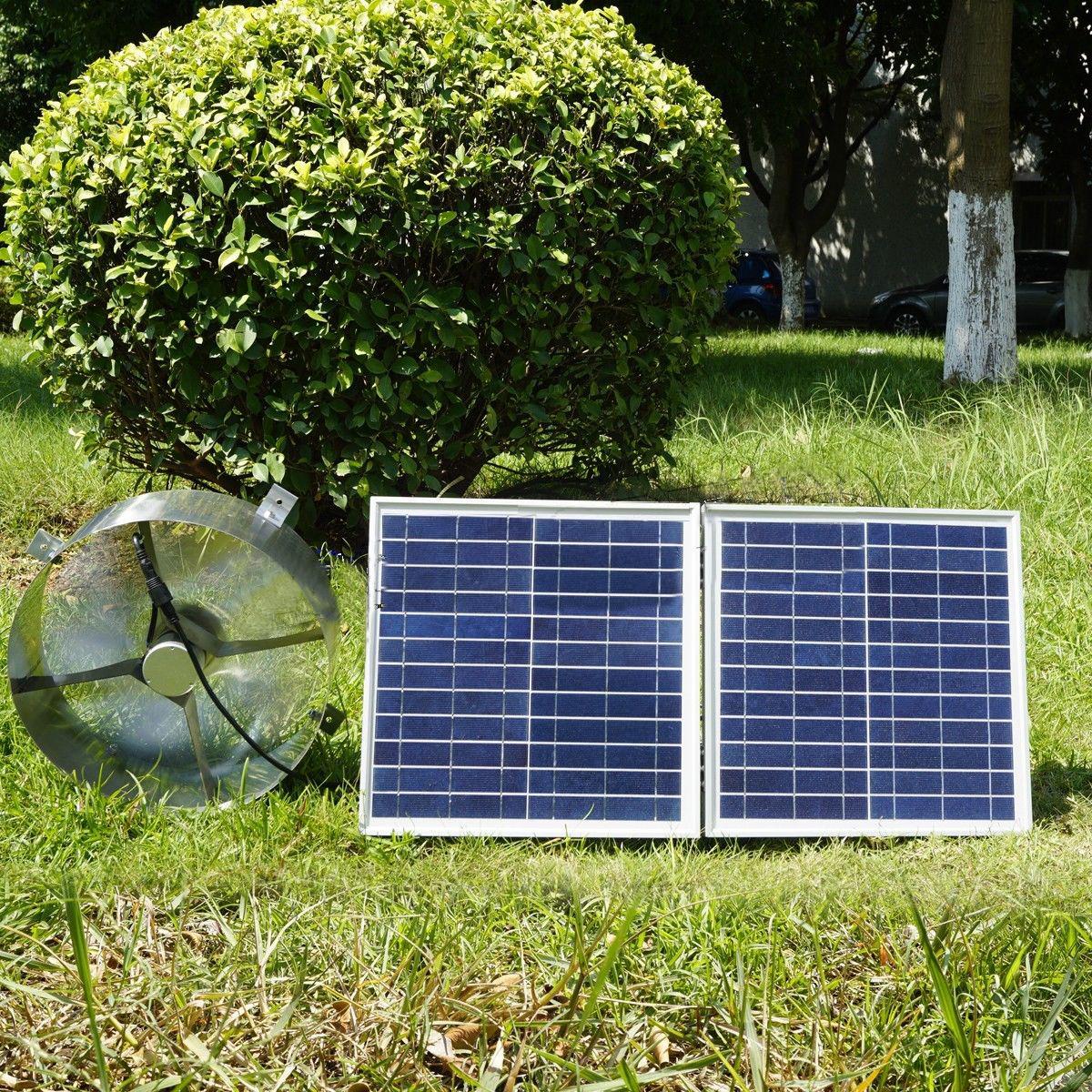 25w Solar Powered Attic Ventilator Gable Roof Vent Fan W