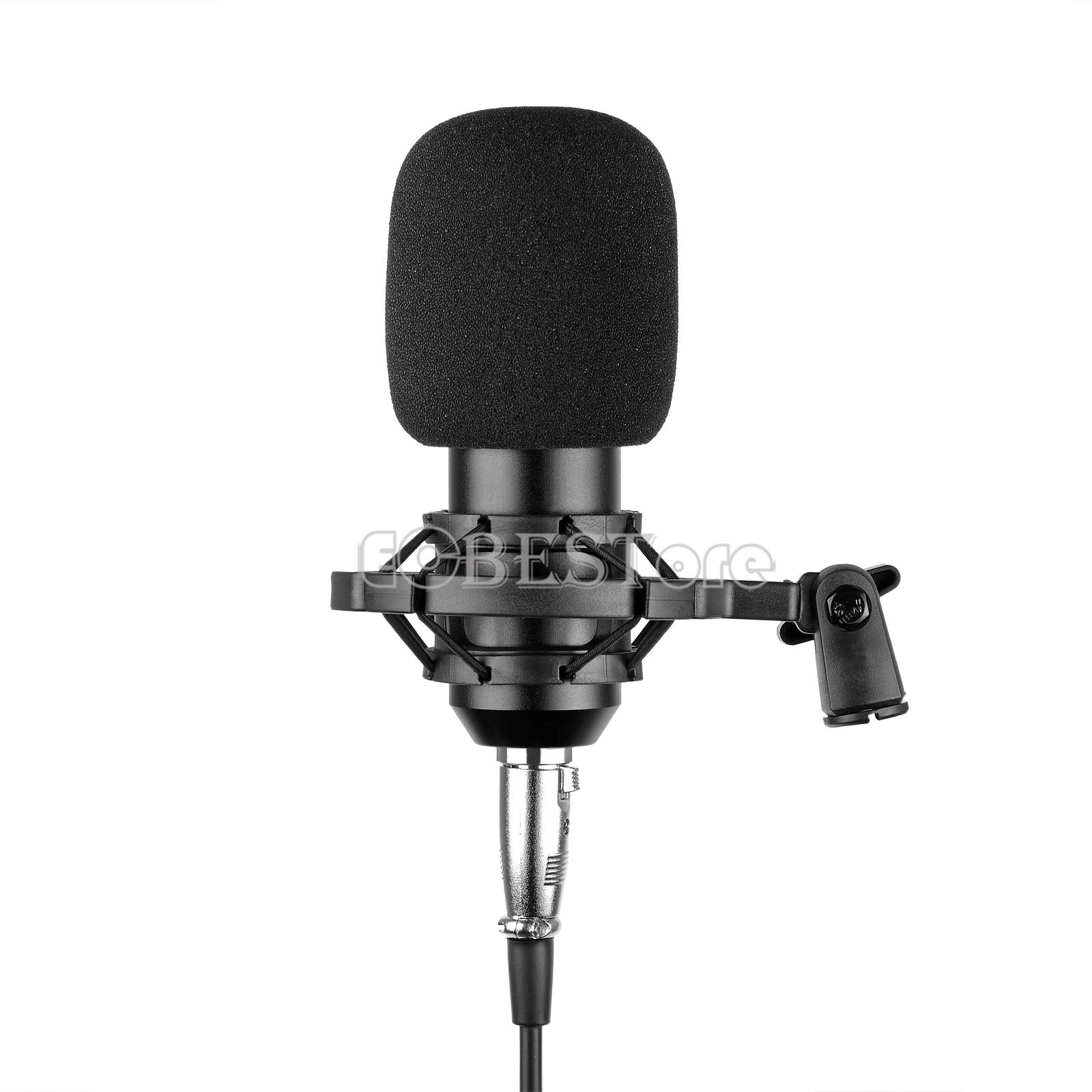 Studio Condenser Microphone Cardioid PC Computer Recording ...