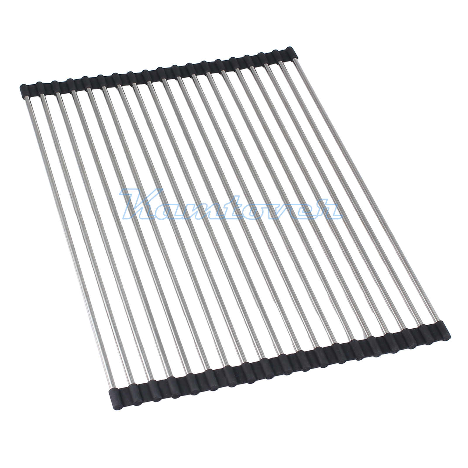 Stainless Steel Roll Up Dish Drying Rack Heat Mat Kitchen