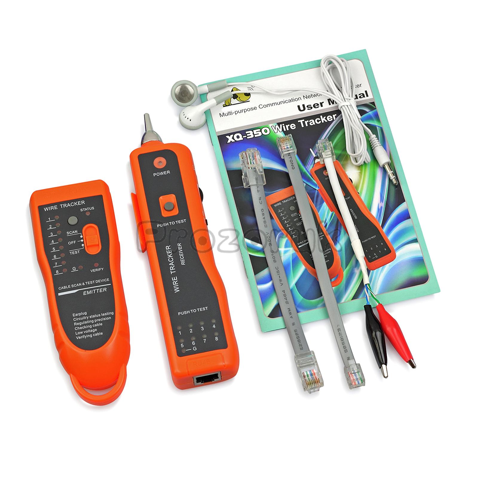 Netzwerk Kabeltester Kabelfinder für RJ45 / RJ11 LAN Kabel Tester ...