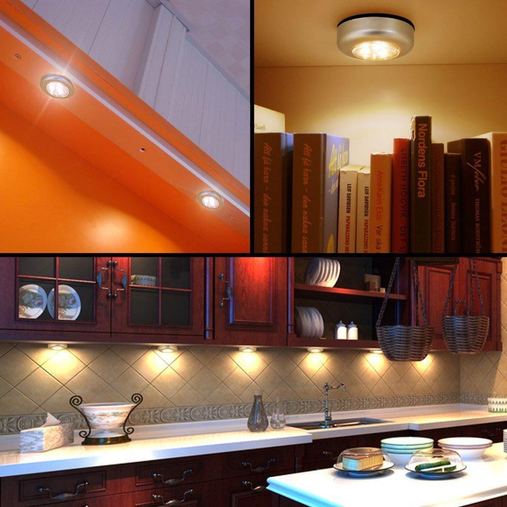 Set 10x 3Leds LED Touch Lampe Unterbauleuchte Batteriebetrieb für ...