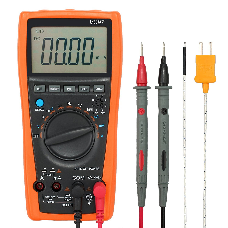 Digital Voltmeter Symbols : Lcd digital multimeter tester vc auto range
