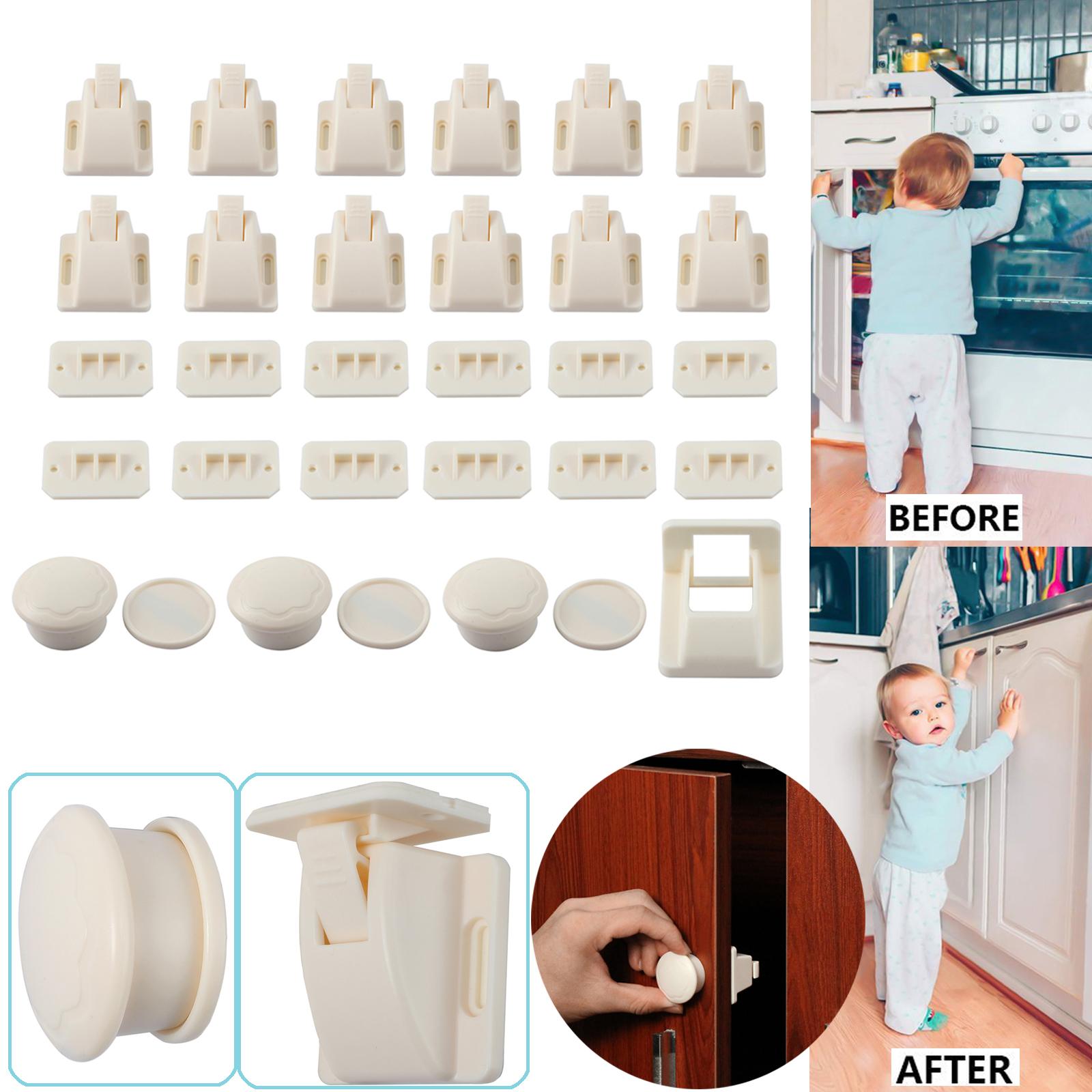 12 stk magnetische kindersicherung unsichtbar schranksicherung f r baby kind 5060492198642. Black Bedroom Furniture Sets. Home Design Ideas