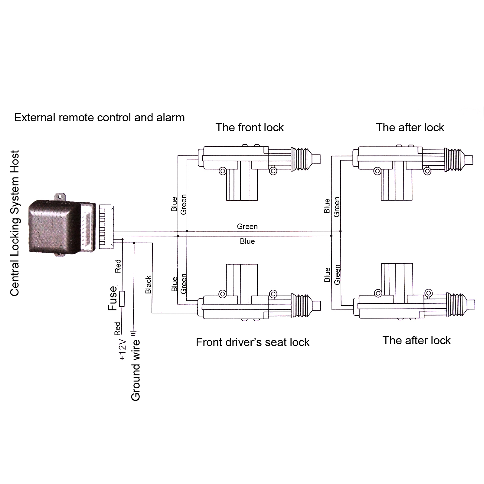 Universal Central Locking Kit Wiring Diagram Electrical Car Lock 4 Door Power Unlock Remote 2 Series And Parallel Circuits Diagrams