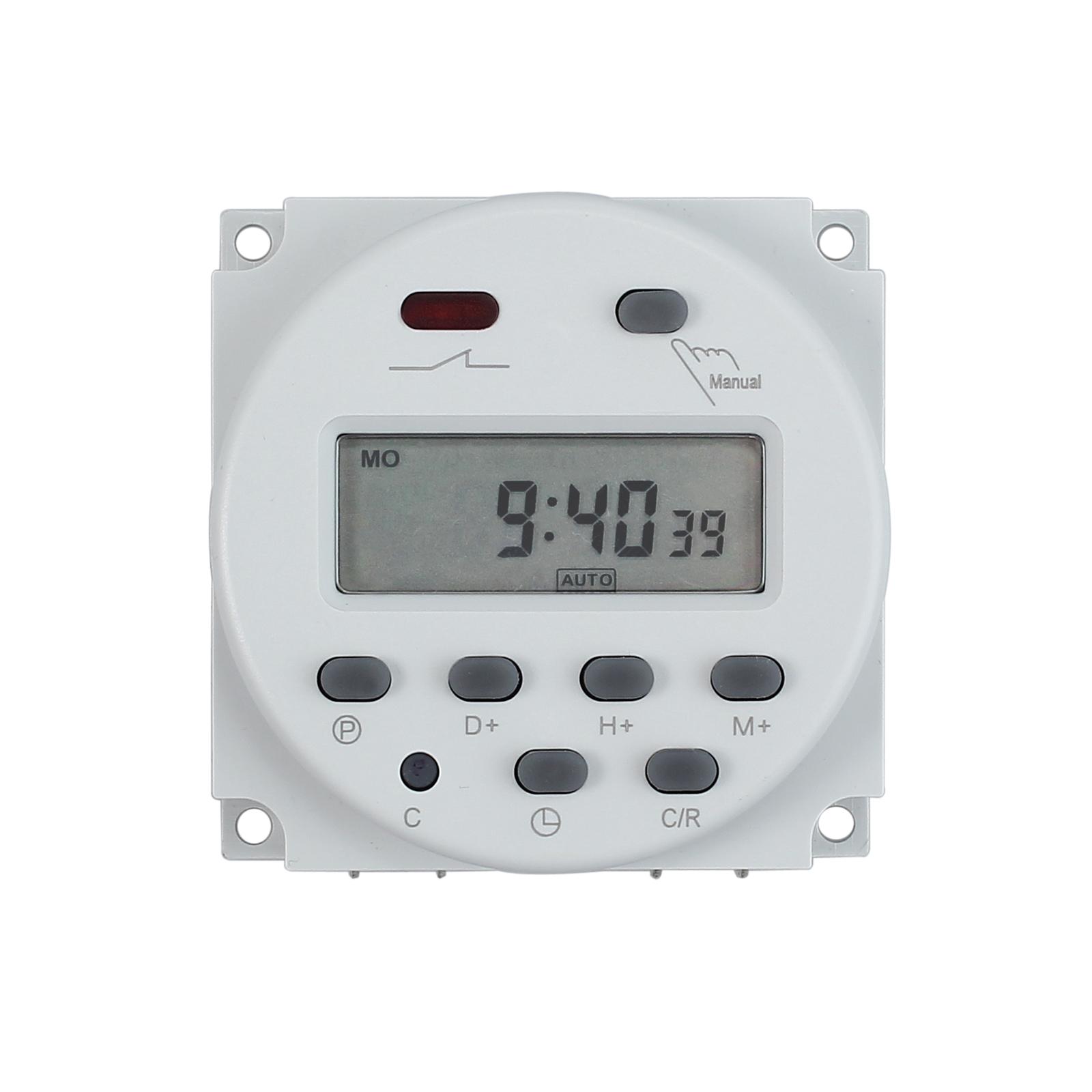 DC 12V Digitaler LCD Timer Programmierbar Zeitschaltuhr Zeitschalter ...