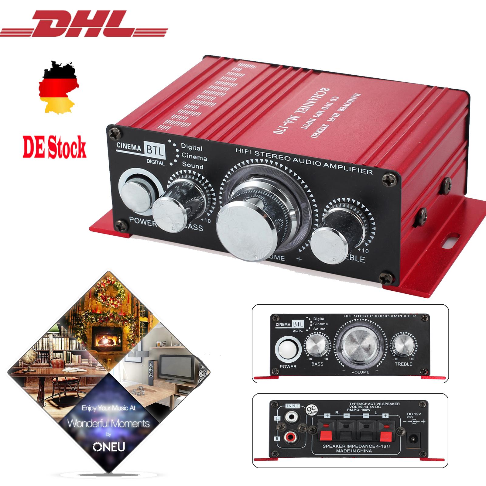mini hifi verst rker car amplifier stereo audio endstufe. Black Bedroom Furniture Sets. Home Design Ideas