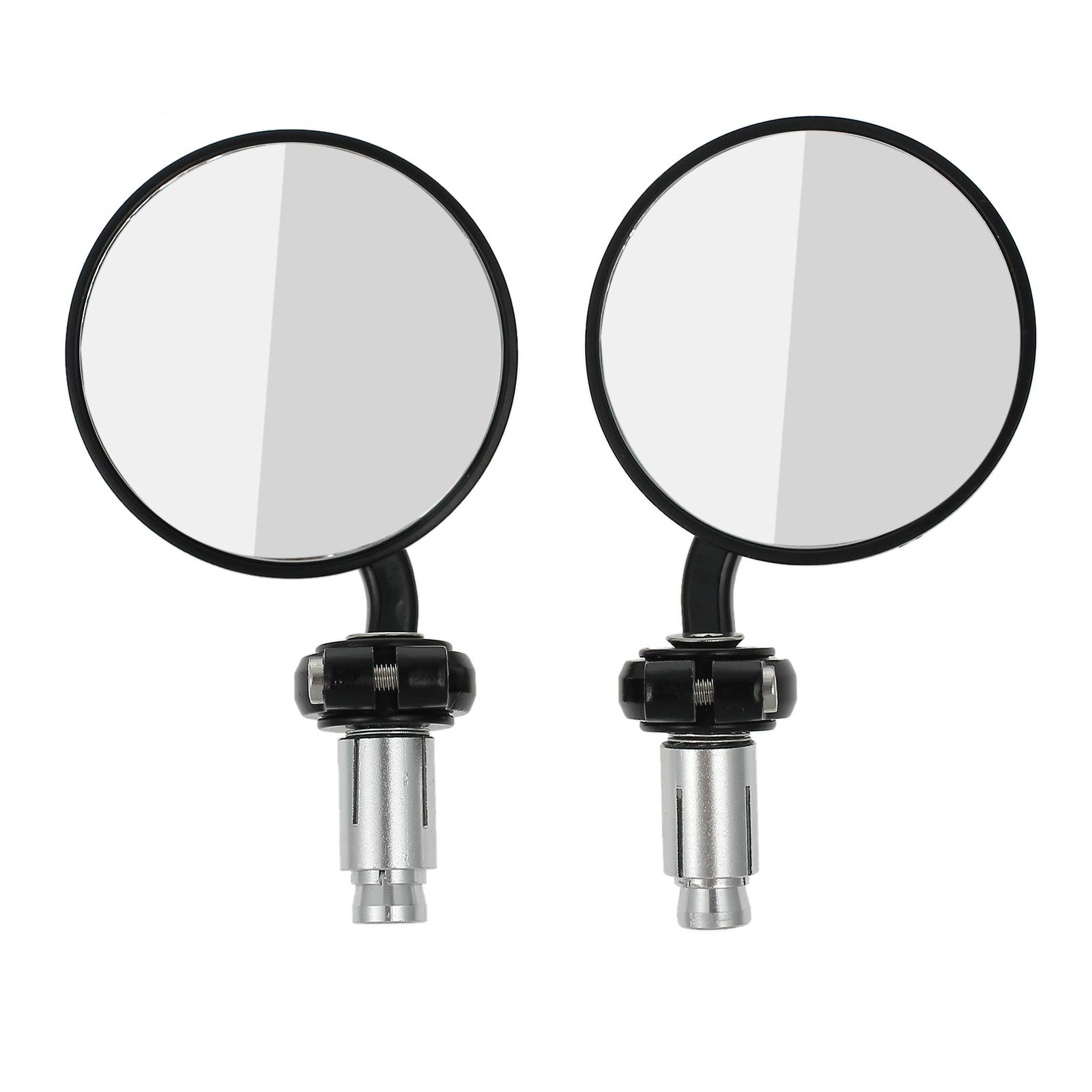 2stk motorrad r ckspiegel lenkerendenspiegel spiegel universal rund schwarz de 799493429947 ebay - Spiegel rund schwarz ...