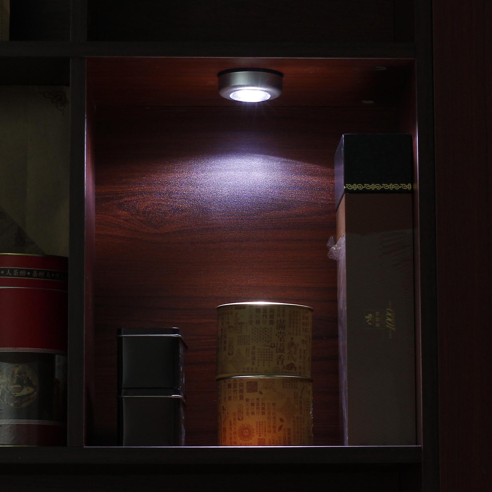 6x3 led touch licht leuchte lampe batteriebetrieb for Schrank unterbauleuchte