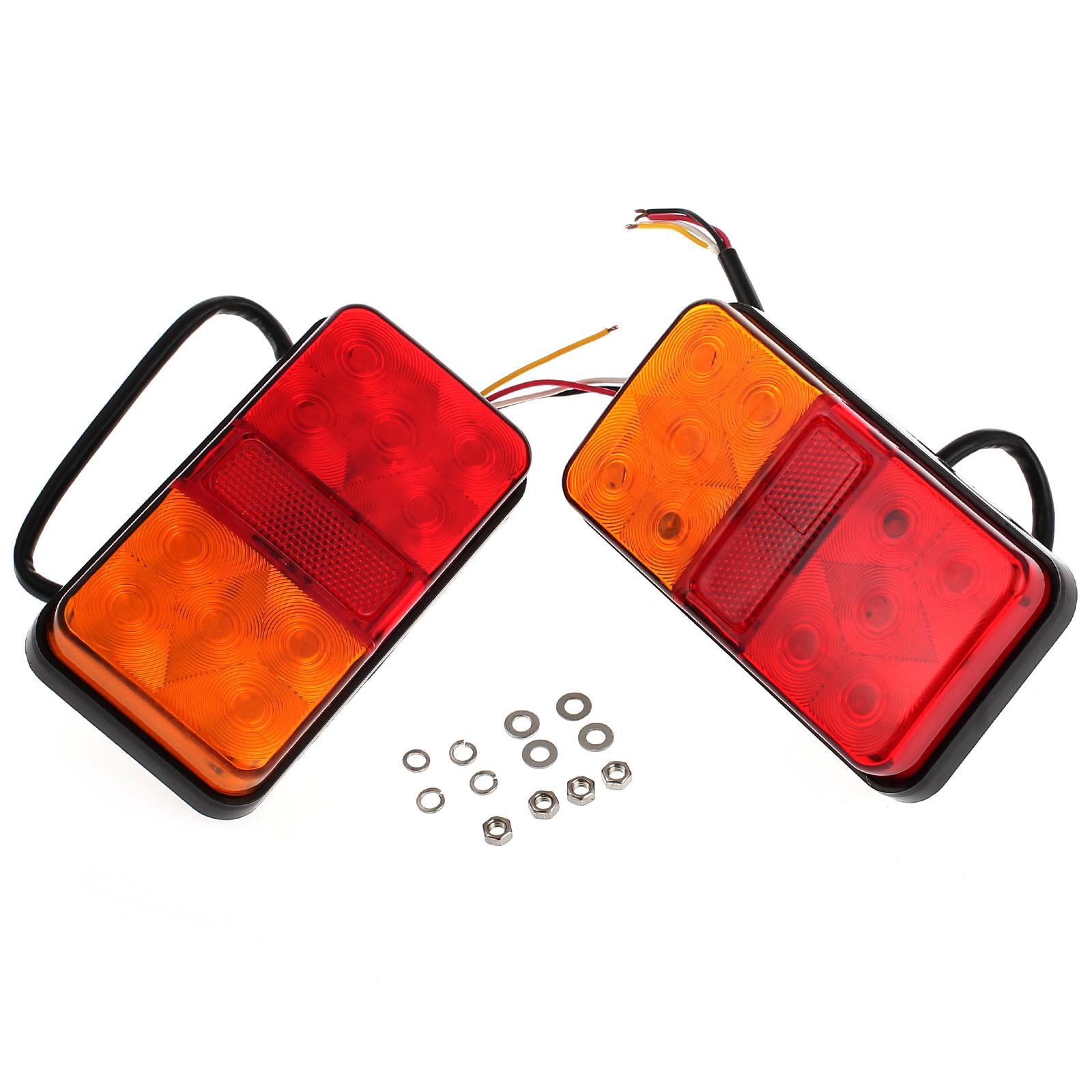 2 Stk LED Rückleuchten Anhänger Anhängerbeleuchtung Heckleuchte ...