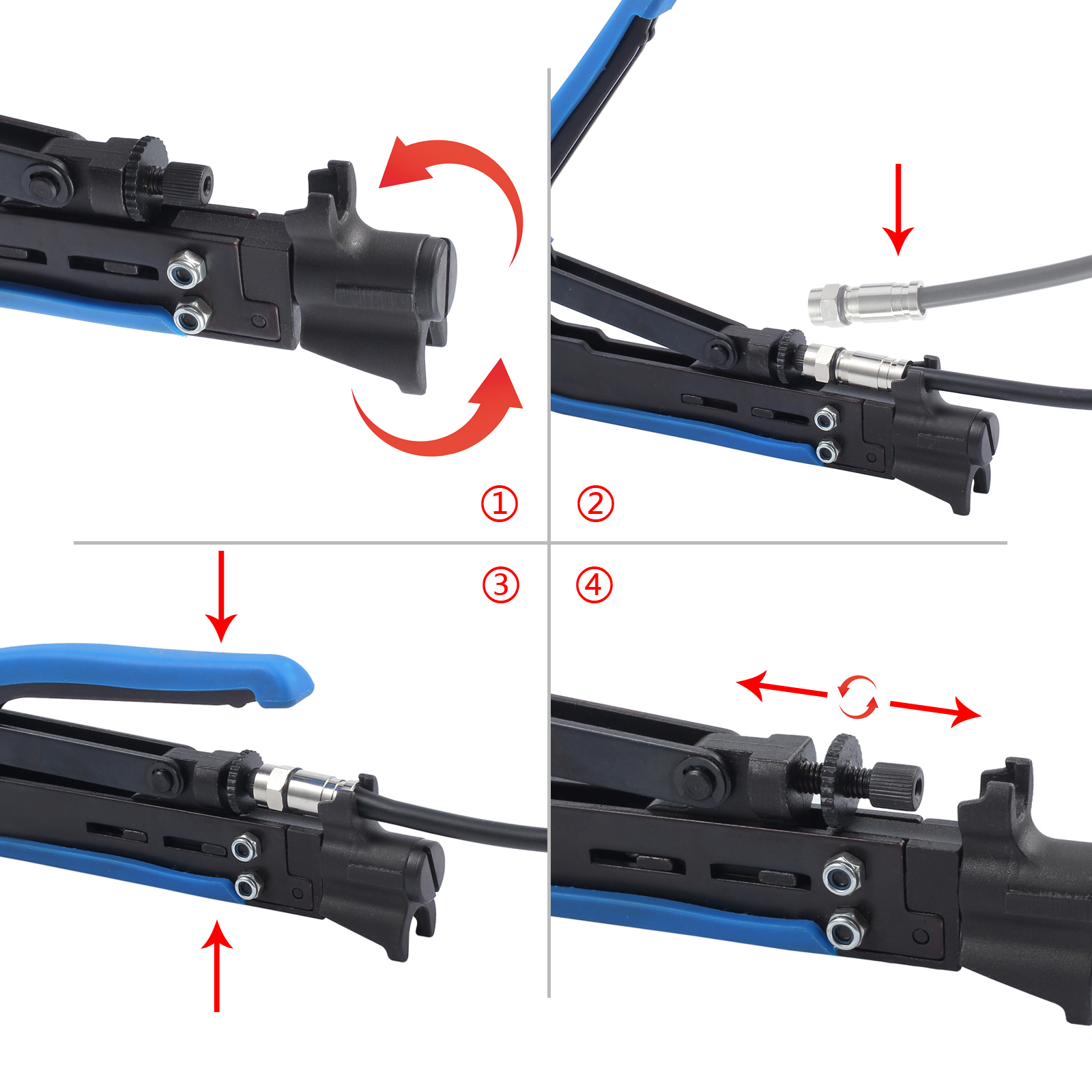 Damage To Coax Cable : Coax f type crimper cable tool rg with coaxial