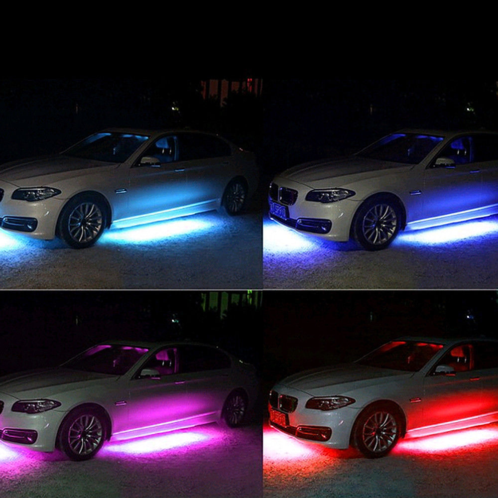 Colorful led strip under car tube underglow glow system underbody installation area car bumper inlet grid car interior car rear car bottom etc specification type music control led strip lights aloadofball Image collections