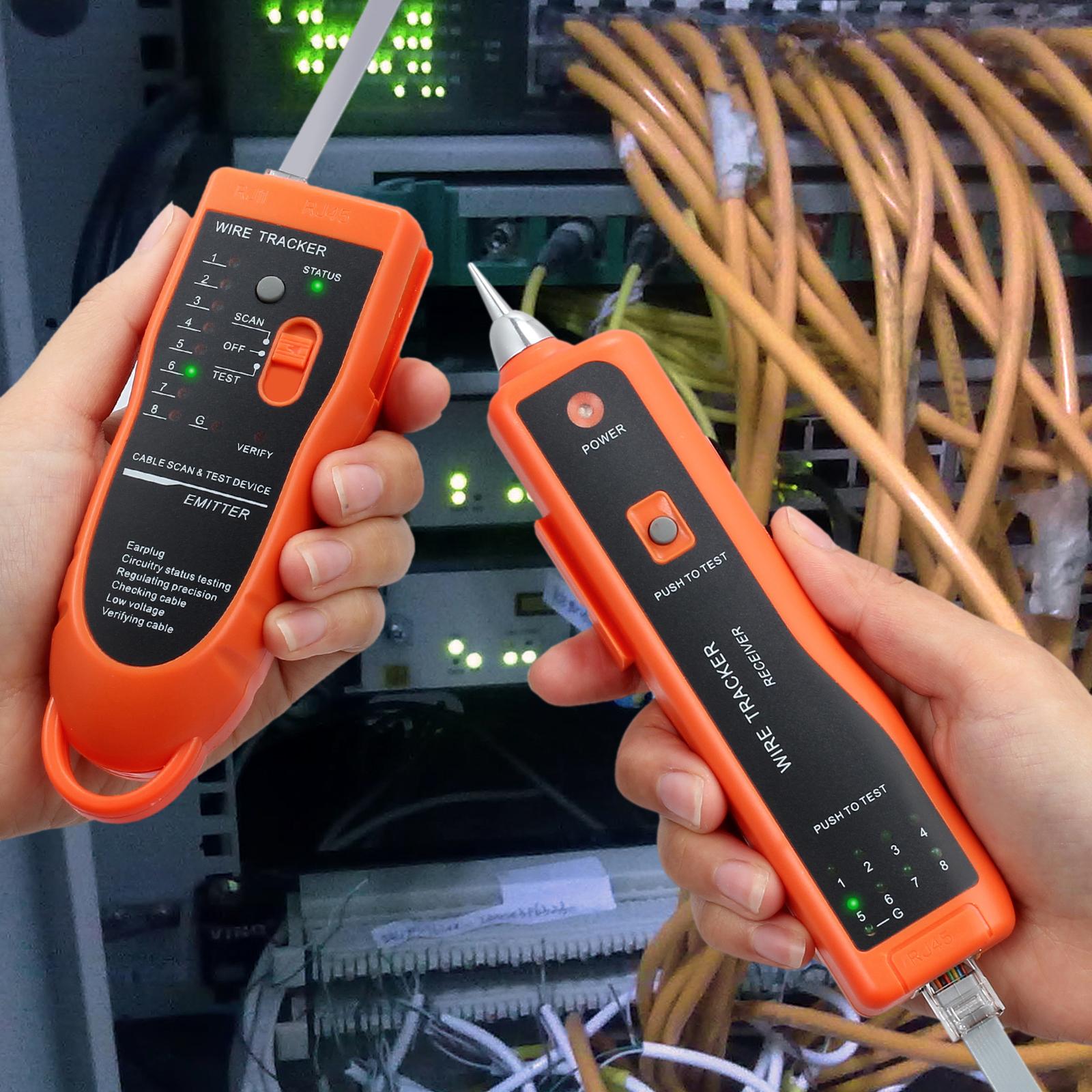kabelfinder kabeltester netzwerk tester draht tracker fr rj45 rj11 lan kabel ebay. Black Bedroom Furniture Sets. Home Design Ideas