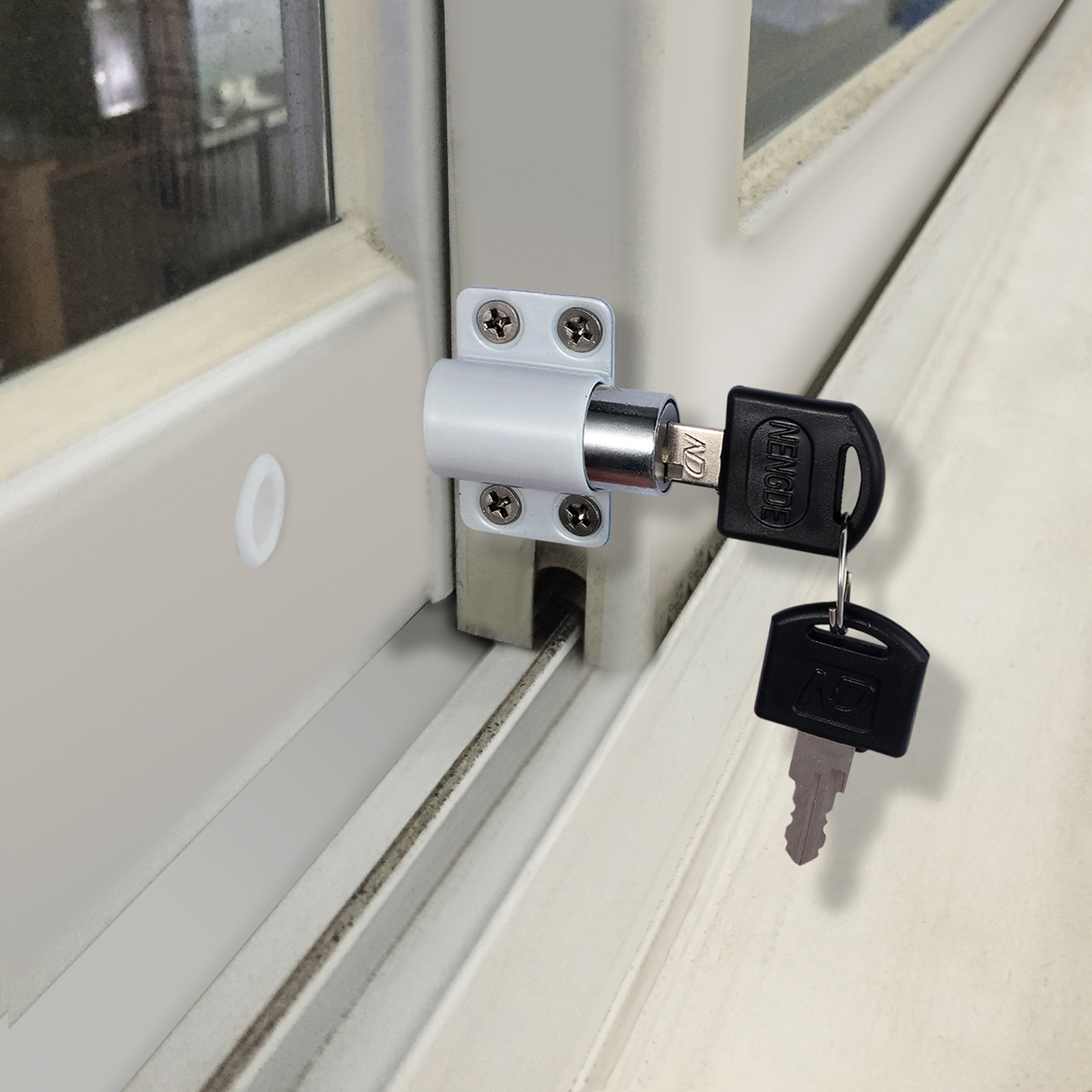4x alloy sliding patio door window bolt locking catch push for Best locks for home security