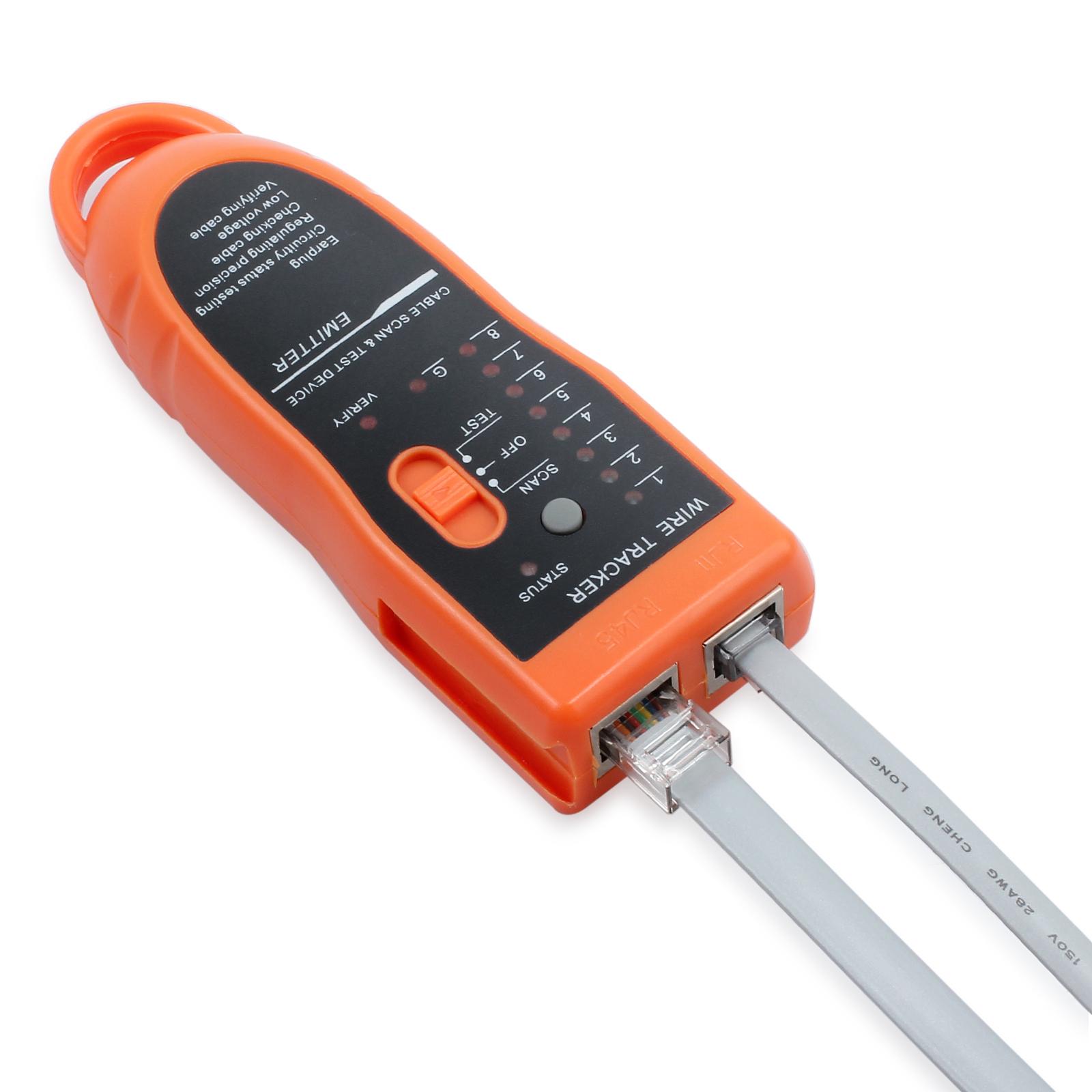 Netzwerk Kabeltester Kabelfinder Tester Draht Tracker für RJ45 ...