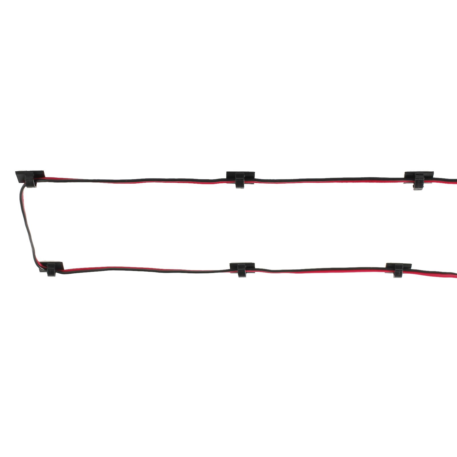 30× Kabelhalter Klebesockel für Kabelbinder Kabelclip Kabelklemme ...