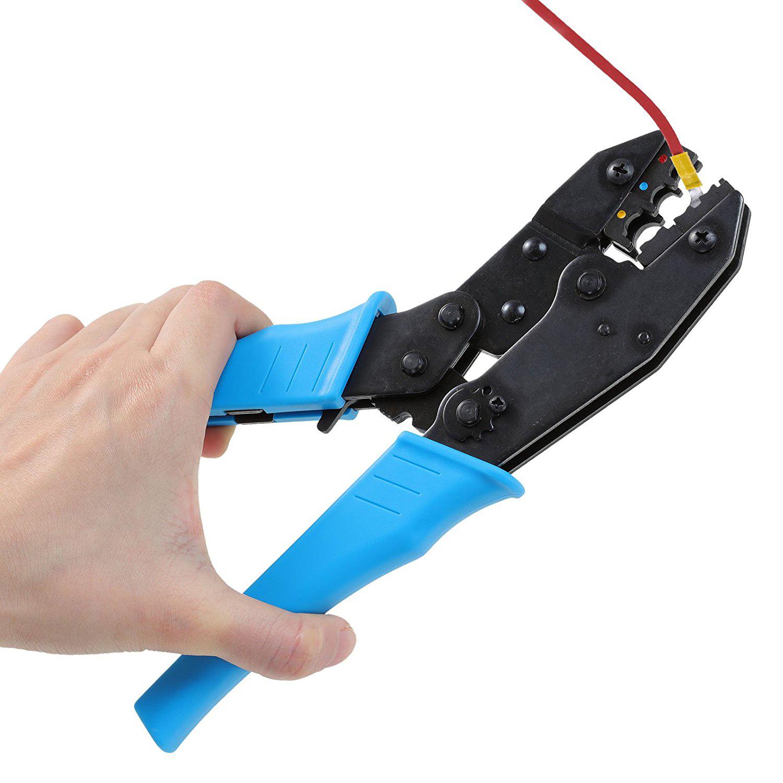 crimpzange presszange kabelschuhe f r 0 5 6mm isolierte. Black Bedroom Furniture Sets. Home Design Ideas