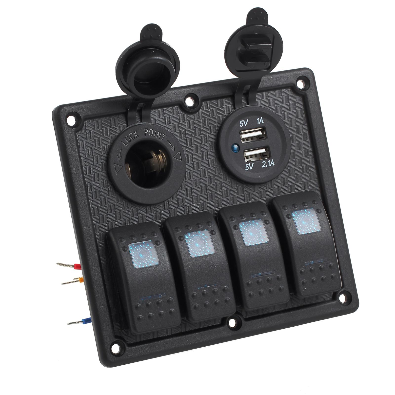 4 Gang Auto Switch Panel Schalter Schalttafel Wippschalter ...