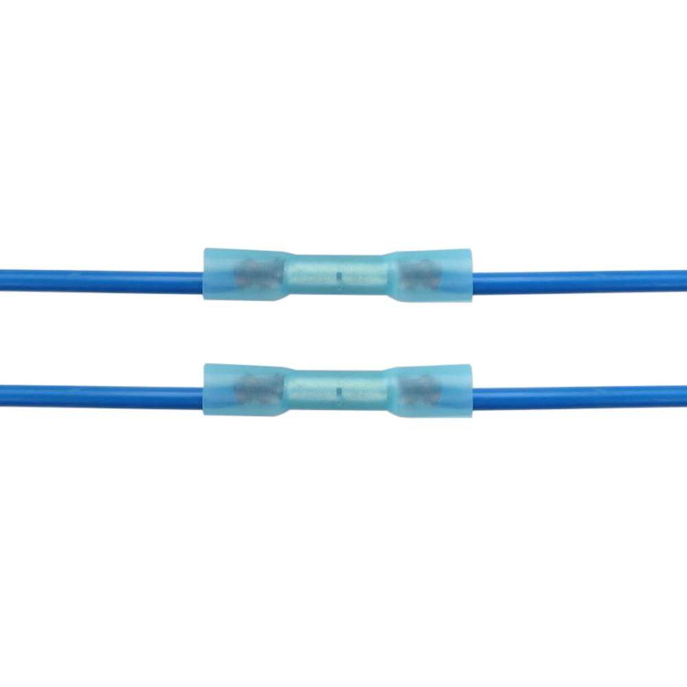 100X Lötverbinder Kabel Schrumpfverbinder Sortiment Stossverbinder ...