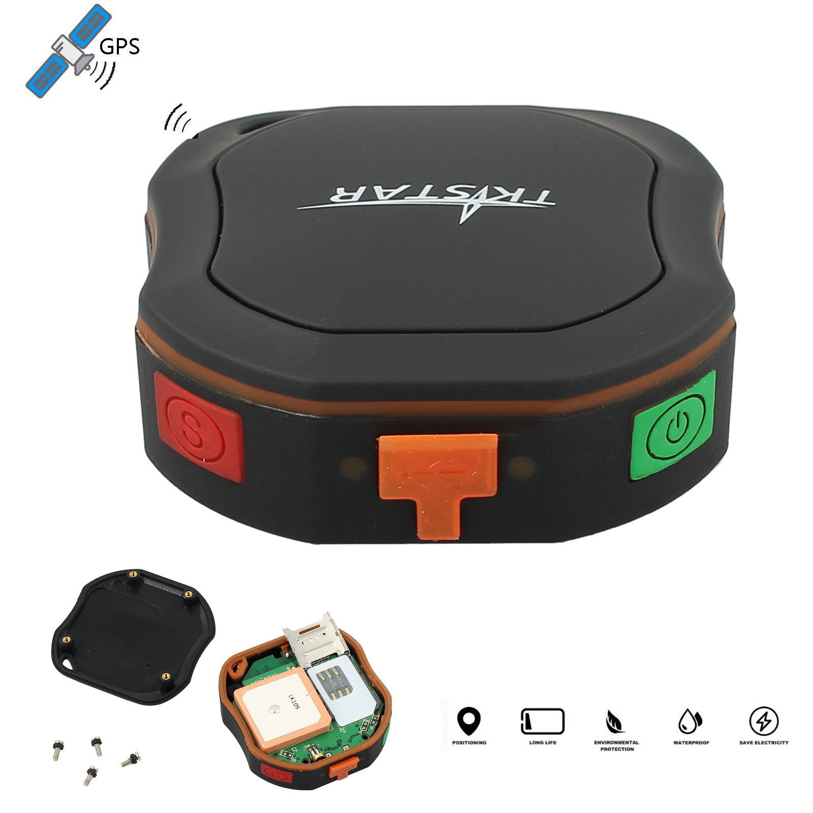 mini gprs gsm gps tracker sms sender peilsender sos alarm. Black Bedroom Furniture Sets. Home Design Ideas