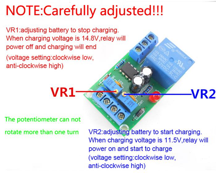 Details about Under Voltage Over Voltage Protection Module Automatic  Charging Controll Module