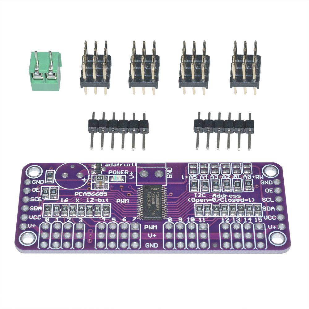 Details about PCA9685 16-Channel 12 bit PWM Servo Driver I2C Interface for  Arduino Raspberry