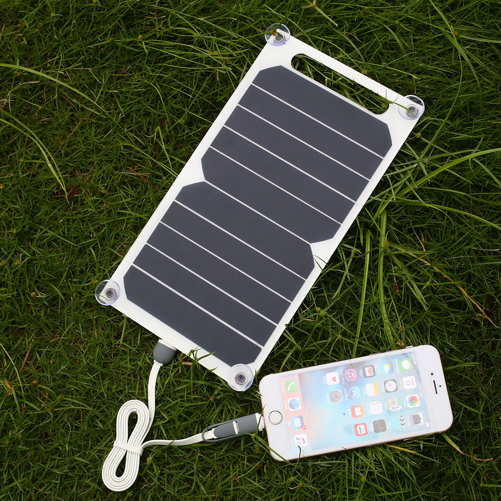 Portable 10w 5v Solar Power Charging Panel Usb Charger For Samsung Iphone Tablet Ebay