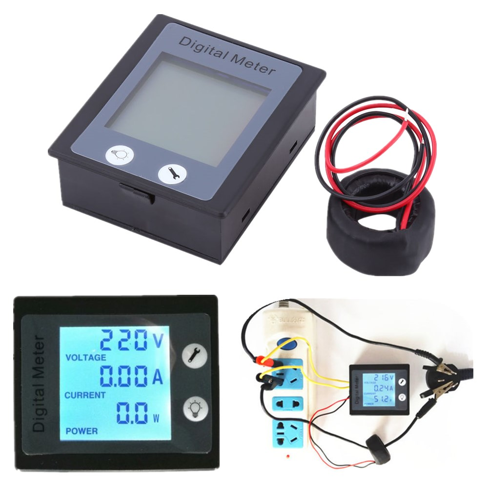 Electric Meter At Zero : A lcd volt current watt kwh meter power energy